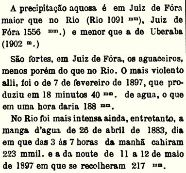 Chuvas no Rio antigo